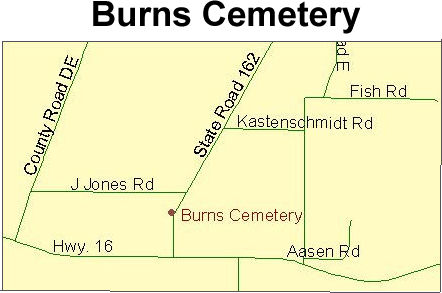 Map to Burns Cemetery