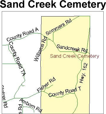 Map to Sand Creek Cemetery