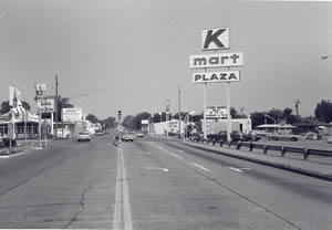 State Road and Losey Boulevard South looking west, 1970