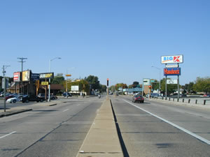 State Road and Losey Boulevard South looking west, 2003