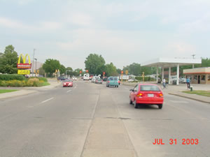 Losey boulevard South and Ward Avenue looking north, 2003