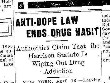 Image result for The Harrison Act