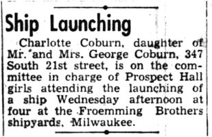 1945-04-25_Trib_p04_Charlotte_Coburn_attends_ship_launching_thumb.jpg