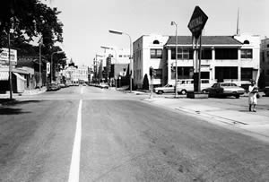 Fifth & Cass, looking north, 1970