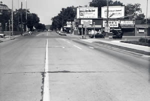 Jackson Street and West Avenue South West looking west, 1970