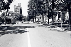 Market and West Avenue South Street looking west, 1970